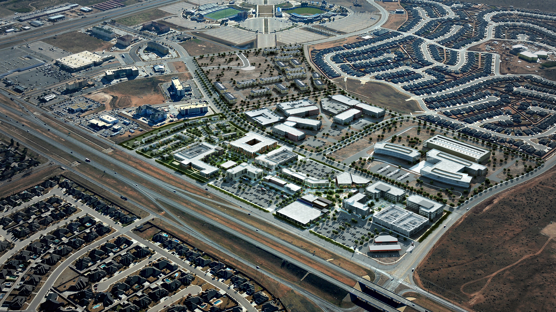 <p>At the epicenter of the North American shale oil play, Chevron and Oxy are both building new regional headquarters immediately across the street from the project.</p>