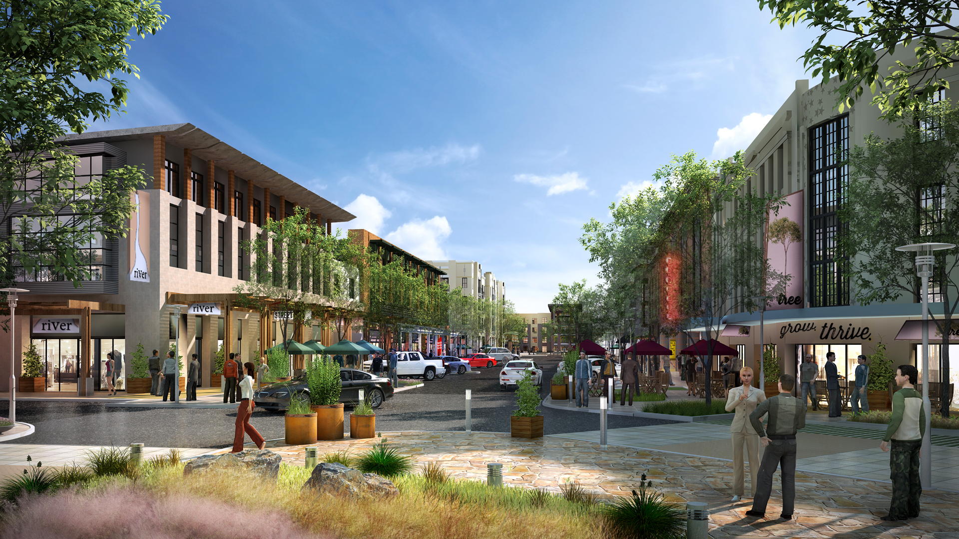 <p>Westridge Commons will bring more than 1 million square feet of new residential, office and retail space organized around a dynamic set of public spaces.</p>