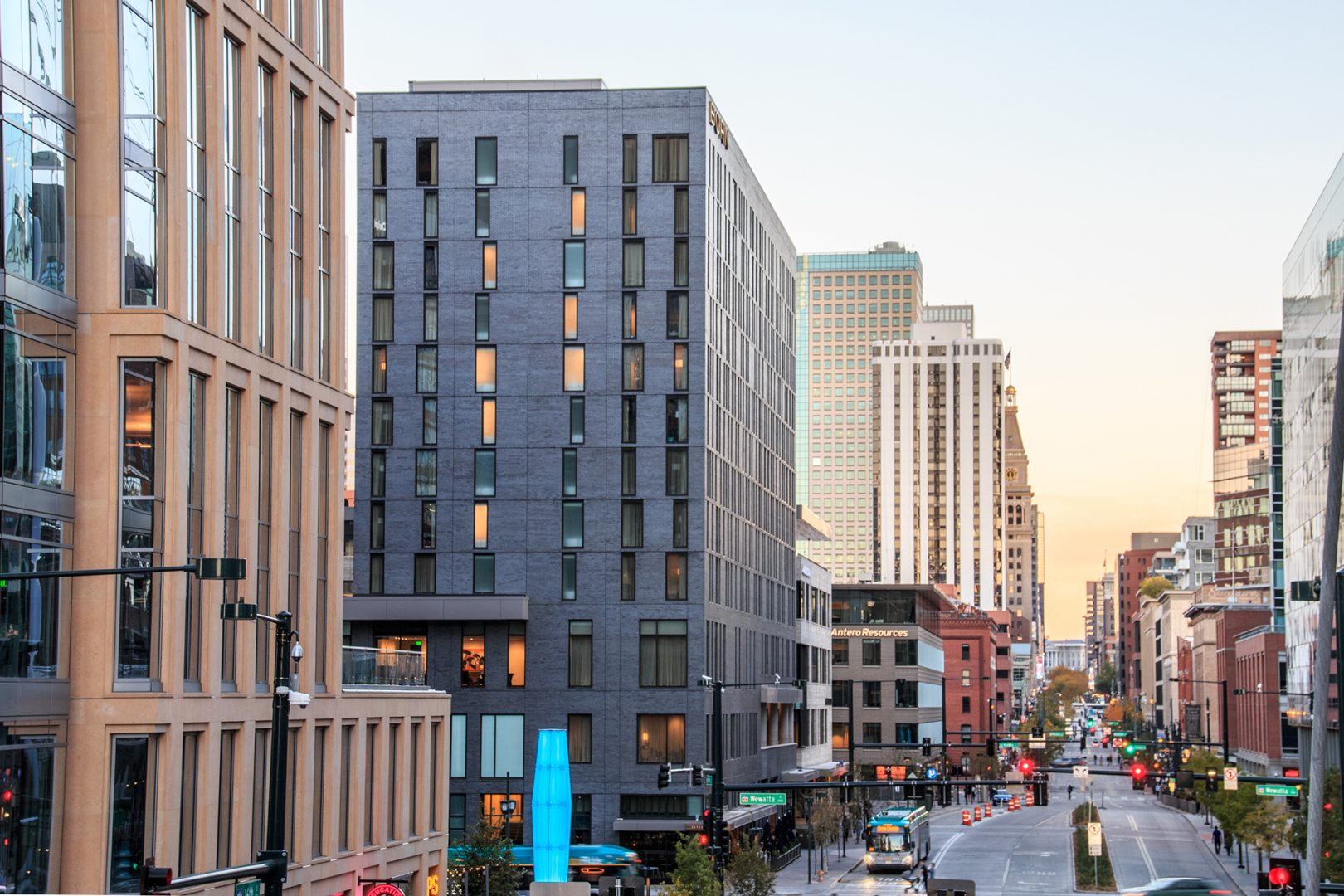 <p>The anchor is the 12-story, 200-room Hotel Born, with 8,300 square feet of meeting space, street-level and rooftop patios and two restaurants operated by local celebrity chefs.</p>